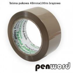 TAŚMA PAKOWA 48mm/100m 40 MIC BRĄZOWA
