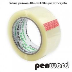 TAŚMA PAKOWA 48mm/100m 40 MIC PRZEZROCZYSTA