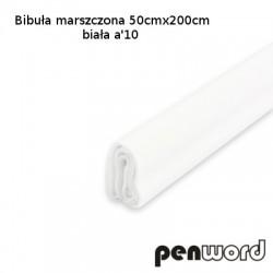 BIBUŁA MARSZCZONA 50x200cm BIAŁA a'10