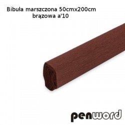 BIBUŁA MARSZCZONA 50x200cm BRĄZOWA a'10
