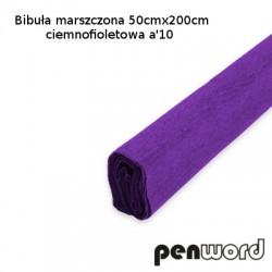 BIBUŁA MARSZCZONA 50x200cm CIEMNOFIOLETOWA a'10