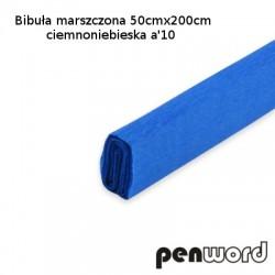 BIBUŁA MARSZCZONA 50x200cm CIEMNONIEBIESKAa'10
