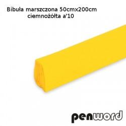 BIBUŁA MARSZCZONA 50x200cm CIEMNOŻÓŁTA a'10