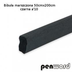 BIBUŁA MARSZCZONA 50x200cm CZARNA a'10