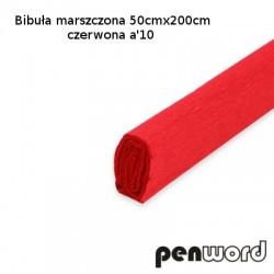 BIBUŁA MARSZCZONA 50x200cm CZERWONA a'10
