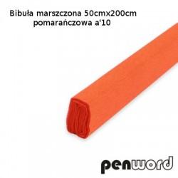 BIBUŁA MARSZCZONA 50x200cm POMARAŃCZOWA a'10