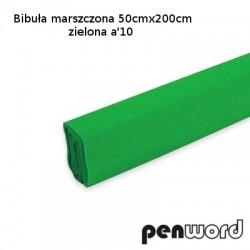 BIBUŁA MARSZCZONA 50x200cm ZIELONA a'10