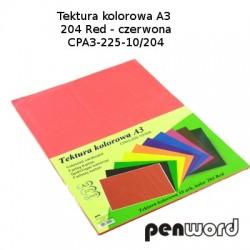 BRYSTOL/TEKTURA KOL. A3 204 RED/CZERWONAa'10 CPA3-225-10