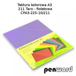 BRYSTOL/TEKTURA KOL. A3 211 TARO/FIOLETOWA a'10 CPA3-225-10
