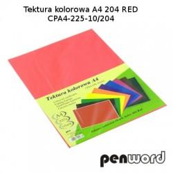 BRYSTOL/TEKTURA KOL. A4 204 RED/CZERWONACPA4-225-10