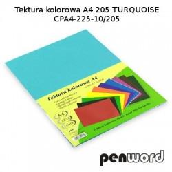 BRYSTOL/TEKTURA KOL. A4 205 TURQUOISE/TURKUSOWACPA4-225-10