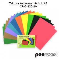 BRYSTOL/TEKTURA KOLOROWA MIX KOL. A5 CPA5-225-20