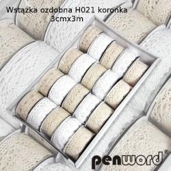 WSTĄŻKA OZDOBNA H021 KORONKA 3cm/3m