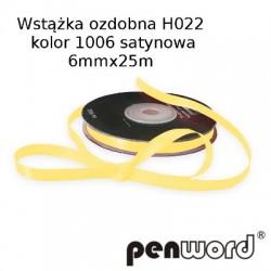 WSTĄŻKA OZDOBNA H022 KOL. 1006 SATYNOWA 6mmx25m