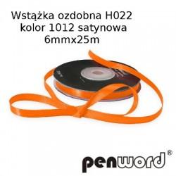 WSTĄŻKA OZDOBNA H022 KOL. 1012 SATYNOWA 6mmx25m