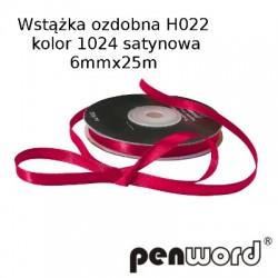 WSTĄŻKA OZDOBNA H022 KOL. 1024 SATYNOWA 6mmx25m