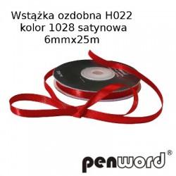 WSTĄŻKA OZDOBNA H022 KOL. 1028 SATYNOWA 6mmx25m