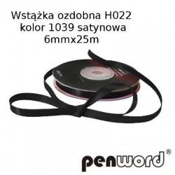 WSTĄŻKA OZDOBNA H022 KOL. 1039 SATYNOWA 6mmx25m
