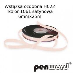 WSTĄŻKA OZDOBNA H022 KOL. 1061 SATYNOWA 6mmx25m