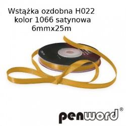 WSTĄŻKA OZDOBNA H022 KOL. 1066 SATYNOWA 6mmx25m