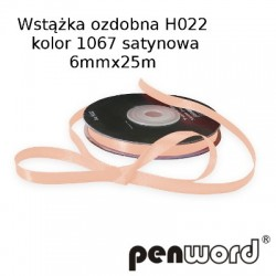 WSTĄŻKA OZDOBNA H022 KOL. 1067 SATYNOWA 6mmx25m