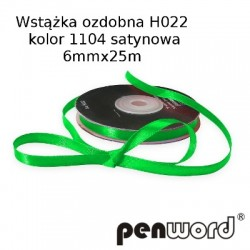 WSTĄŻKA OZDOBNA H022 KOL. 1104 SATYNOWA 6mmx25m