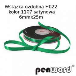 WSTĄŻKA OZDOBNA H022 KOL. 1107 SATYNOWA 6mmx25m