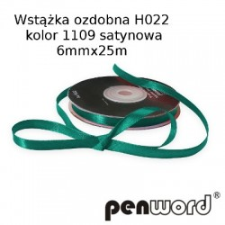 WSTĄŻKA OZDOBNA H022 KOL. 1109 SATYNOWA 6mmx25m