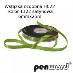 WSTĄŻKA OZDOBNA H022 KOL. 1122 SATYNOWA 6mmx25m