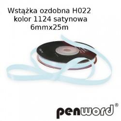 WSTĄŻKA OZDOBNA H022 KOL. 1124 SATYNOWA 6mmx25m