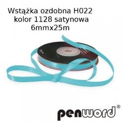WSTĄŻKA OZDOBNA H022 KOL. 1128 SATYNOWA 6mmx25m