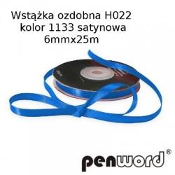 WSTĄŻKA OZDOBNA H022 KOL. 1133 SATYNOWA 6mmx25m