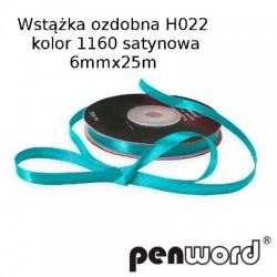WSTĄŻKA OZDOBNA H022 KOL. 1160 SATYNOWA 6mmx25m