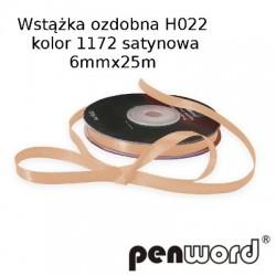 WSTĄŻKA OZDOBNA H022 KOL. 1172 SATYNOWA 6mmx25m