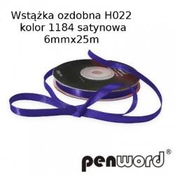 WSTĄŻKA OZDOBNA H022 KOL. 1184 SATYNOWA 6mmx25m