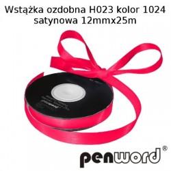 WSTĄŻKA OZDOBNA H023 KOL. 1024 SATYNOWA 12mmx25m