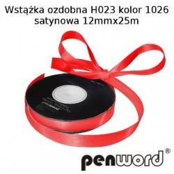 WSTĄŻKA OZDOBNA H023 KOL. 1026 SATYNOWA 12mmx25m