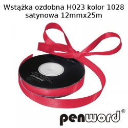 WSTĄŻKA OZDOBNA H023 KOL. 1028 SATYNOWA 12mmx25m