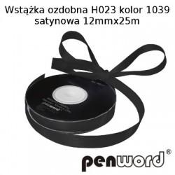 WSTĄŻKA OZDOBNA H023 KOL. 1039 SATYNOWA 12mmx25m