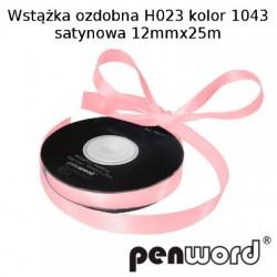 WSTĄŻKA OZDOBNA H023 KOL. 1043 SATYNOWA 12mmx25m