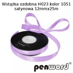 WSTĄŻKA OZDOBNA H023 KOL. 1051 SATYNOWA 12mmx25m