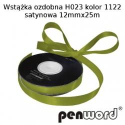 WSTĄŻKA OZDOBNA H023 KOL. 1122 SATYNOWA 12mmx25m
