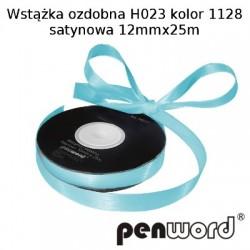 WSTĄŻKA OZDOBNA H023 KOL. 1128 SATYNOWA 12mmx25m