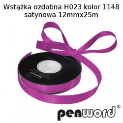 WSTĄŻKA OZDOBNA H023 KOL. 1148 SATYNOWA 12mmx25m