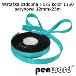 WSTĄŻKA OZDOBNA H023 KOL. 1160 SATYNOWA 12mmx25m