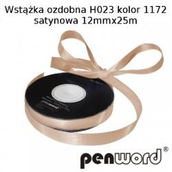 WSTĄŻKA OZDOBNA H023 KOL. 1172 SATYNOWA 12mmx25m
