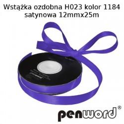 WSTĄŻKA OZDOBNA H023 KOL. 1184 SATYNOWA 12mmx25m