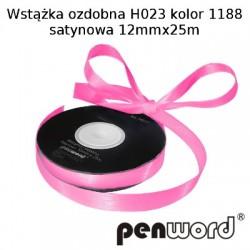 WSTĄŻKA OZDOBNA H023 KOL. 1188 SATYNOWA 12mmx25m