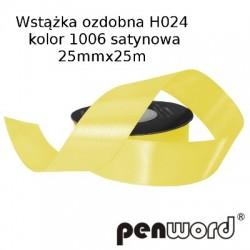 WSTĄŻKA OZDOBNA H024 KOL. 1006 SATYNOWA 25mmx25m