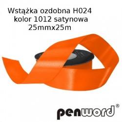 WSTĄŻKA OZDOBNA H024 KOL. 1012 SATYNOWA 25mmx25m